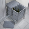 LARGE CAPACITY 2 X 16 LITRE BINS